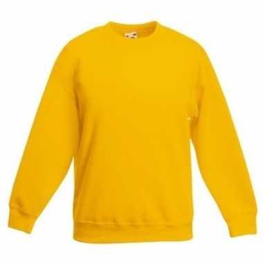 Geel basis donkergele truien/sweaters jongenskleding shirt