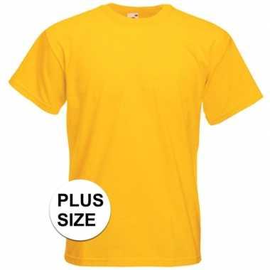 Geel grote maten gele t-shirts met korte mouwen voor heren