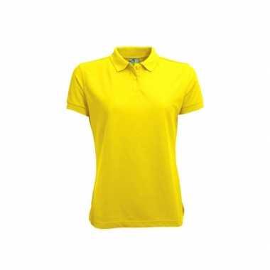 Gele dames poloshirts