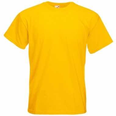 Heren fruit of the loom t-shirt geel
